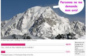 Voor- en tegenstemmers voor de Mont Blanc