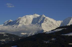 De Mont Blanc bij beter weer