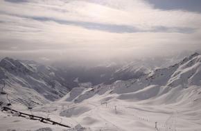 Het skigebied Montafon in Voralberg in Oostenrijk