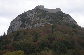 Montségur. Franse Pyreneeen. F Watson,