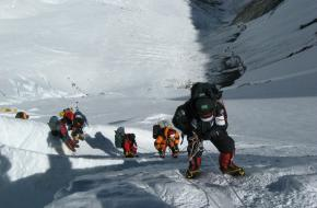 klimmers op de Mount Everest