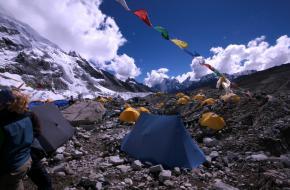 Het basiskamp op de Mount Everest ©emi faulk
