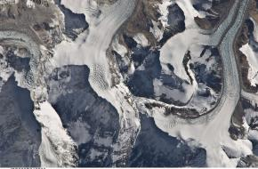Mount Everest van boven ©NASA's Marshall Space Flight Center