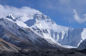 Mount Everest vanaf kamp 1 ©Rupert Taylor-Price