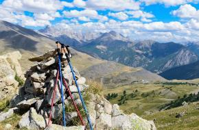 Zorgeloos op pad in de bergen
