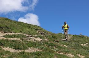veilig afdalen bergwandelen
