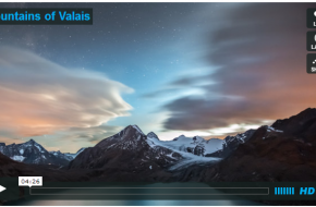 Mountains of Valais - timelapse Christian Mulhauser - VImeo