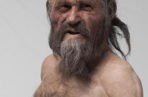 Zo zou Ötzi de ijsmummie er 5000 jaar geleden uit hebben gezien.