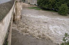 Overstroming. Foto inisheer