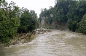 Overstroming. Foto inisheer.