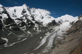 Pasterze gletsjer aan de voet van de Grossglockner