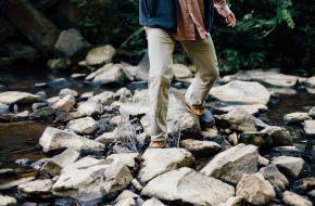 evenwichtsoefening bergwandelen