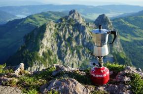 koffie zetten kamperen