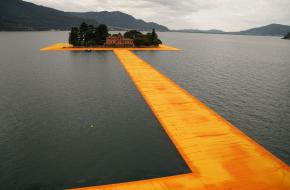 The Floating Piers. Photo: Wolfgang Volz © 2016 Christo