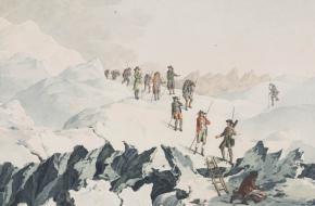Monsieur De Saussure op de Mont Blanc
