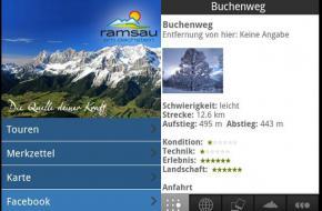 De Ramsau-am-Dachstein-app van het toerismebureau