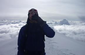 Rinke op de top van de Mont Blanc