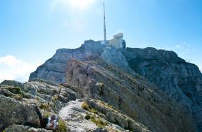 De beklimming van de Säntis - wandelen in Alpstein - Zwitserland. Noes Lautier