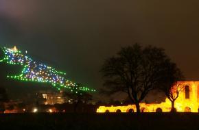 Grooste kerstboom ter wereld Gubbio