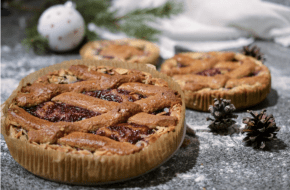 Recept: taart met amandelen en cranberry jam