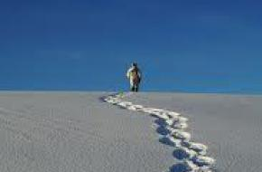 Sneeuwschoenwandelen. foto Johnsen