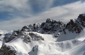 De alpen van Tirol in Oostenrijk.