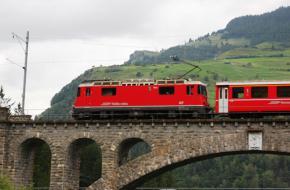 Trein in Graubünden. Foto Wouter Edelman