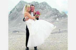 Trouwen op de Zugspitze. Foto fkn