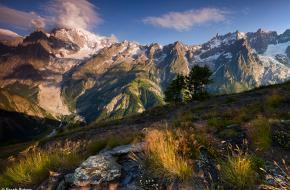 De Mont Blanc van de 'achterkant'. Foto Frank Peters