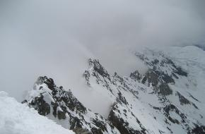 Uitzicht van de Lagginhorn in Wallis - Zwitserland. Foto Matthewbaddeley
