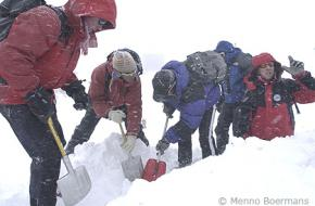 EHBO in de winter. Foto Menno Boermans