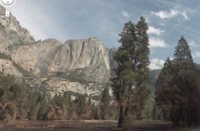 Printscreen van Yosemite Park in Google Streetview